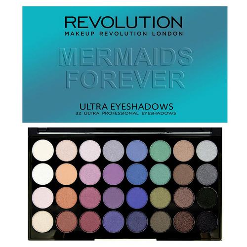 Makeup Revolution Mermaids Forever Ultra paletka 32 očních stínů