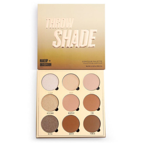 Makeup Obsession Paletka na tvár Makeup Obsession Throw Shade (Contour Palette) 9 x 2,2 g