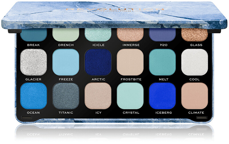 Revolution Paletka očných tieňov Forever Flawless Ice (Eye Shadow Palette) 18 x 1,1 g