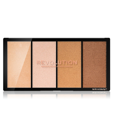 Revolution Paletka rozjasňovač Revolution Re-Loaded (Highlighter Palette) odtieň Lustre Light s Warm 4 x 5 g
