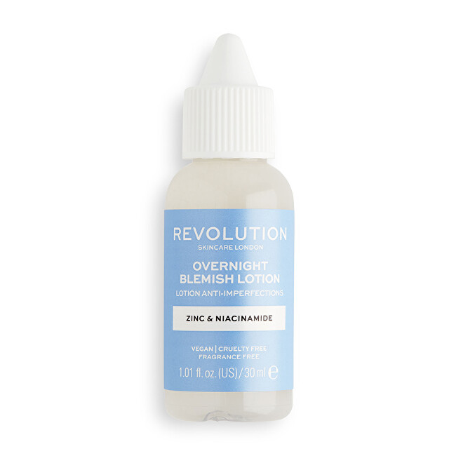 Revolution Starostlivosť o pleť Overnight Blemish Scincare (Lotion Anti-Imperfections) 30 ml