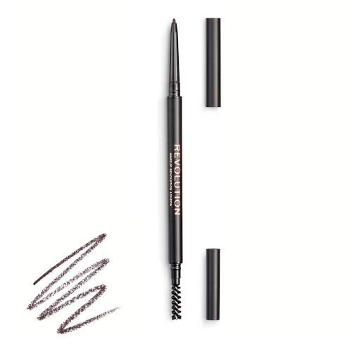 Revolution Precizní tužka na obočí s kartáčkem (Precise Brow Pencil) 0,05 g Dark Brown