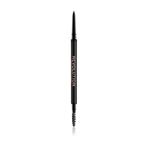 Makeup Revolution Precise Brow Pencil precízna ceruzka na obočie s kefkou odtieň Medium Brown 0,05 g