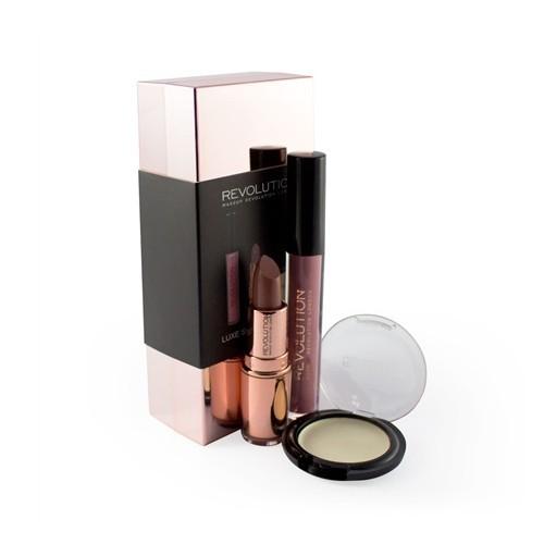 Makeup Revolution Sada dekorativní kosmetiky - Barevný balíček Rose Gold (Luxe Shade Blocks Rose Gold)