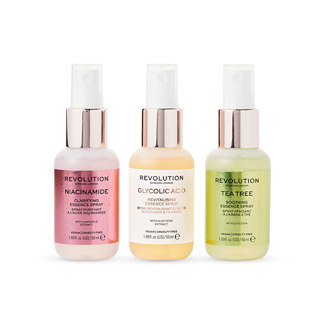 Revolution Sada mini sprejů Mini Essence Spray Kit: So Soothing 3 x 50 ml