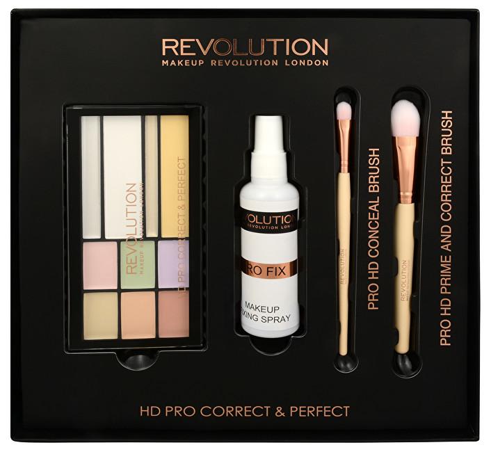 Makeup Revolution Sada na korekciu pleti HD Pre Correct & Perfect