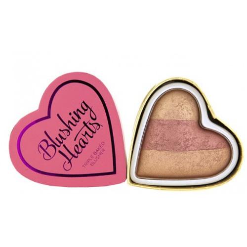 Makeup Revolution Srdcová tvářenka Srdcová královna (Hearts Blusher Peachy Keen Heart) 10 g