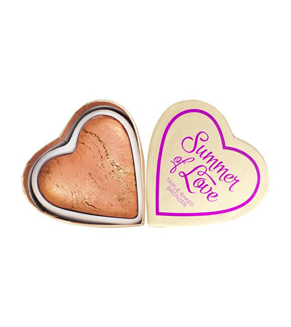 I Heart Revolution Srdcový bronzer Leto I LOVE MAKEUP (Hearts Bronzer Love Hot Summer) 10 g