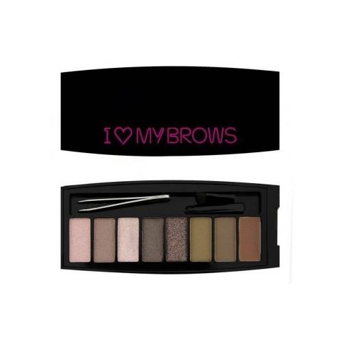 Revolution Set na obočí Své obočí Ultimate I LOVE MAKEUP (Brows Shadow Palette) 7,6 g - SLEVA - poškozená krabička