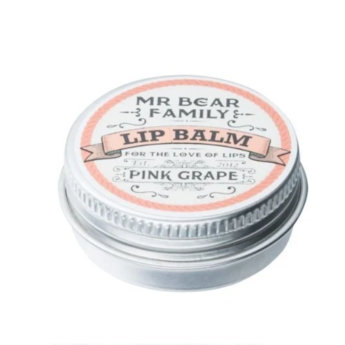 Mr. Bear Balzám na rty pro muže Pink Grape (Lip Balm) 15 ml