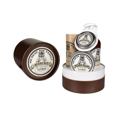 Mr. Bear Citrus vosk na knír 30 g + olej na vousy 30 ml + balzám na vousy 60 ml + šampon na vousy 250 ml dárková sada