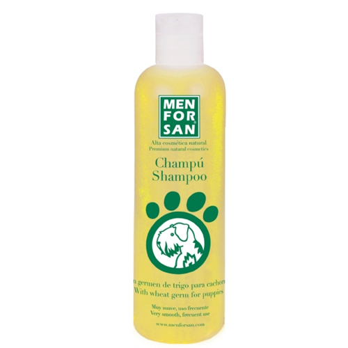Zobrazit detail výrobku Menforsan Velmi jemný šampon pro štěňata z pšeničných klíčků (Shampoo with Wheat Germ for Puppies) 300 ml