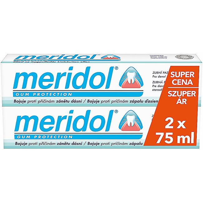 Meridol Zubní pasta proti zánětu dásní duopack 2 x 75 ml