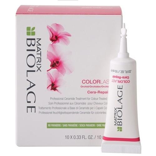 Matrix Intenzivní kúra pro barvené vlasy Biolage Colorlast (Cera-Repair) 10 x 10 ml