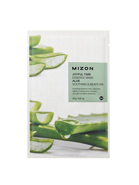 Mizon Plátýnková 3D maska s aloe vera pro zklidnění a hydrataci pleti Joyful Time (Essence Mask Aloe) 23 g