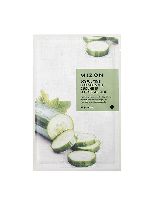 Mizon Plátýnková 3D maska s okurkou pro zářivou a hydratovanou pleť Joyful Time (Essence Mask Cucumber) 23 g