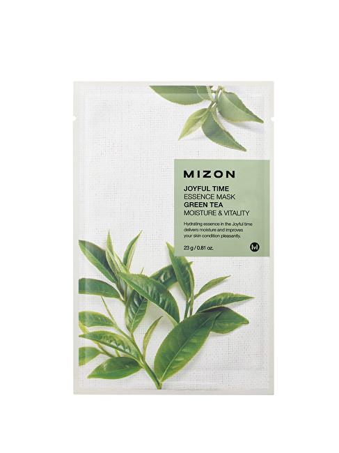 Mizon Plátýnková 3D maska se zeleným čajem pro hydrataci a vitalitu pleti Joyful Time (Essence Mask Green Tea) 23 g