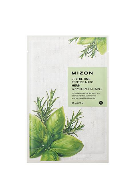 Mizon Plátýnková 3D maska s výtažkem z máty a meduňky pro osvěžení, zpevnění a pružnost pleti Joyful Time (Essence Mask Herb) 23 g