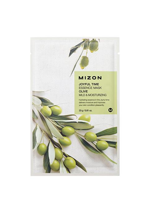 Mizon Plátýnková 3D maska s olivou pro hydrataci a zjemnění pleti Joyful Time (Essence Mask Olive) 23 g