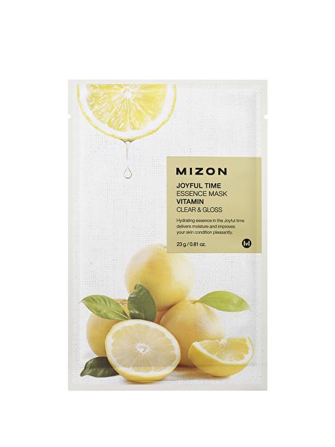 Mizon Plátýnková 3D maska s vitamínem C pro rozjasnění a vitalitu pleti Joyful Time (Essence Mask Vitamin) 23 g