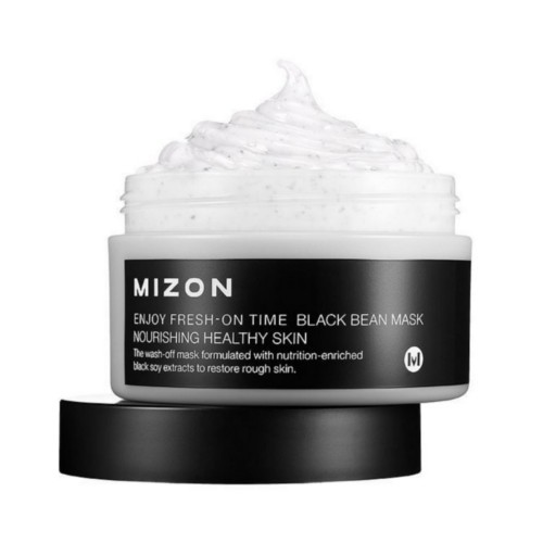 Mizon Regeneračné a ozdravujúci výživná maska na zhrubnutú šupinatú pleť (Enjoy Fresh-On Time Black Bean Mask Nourishing Healthy Skin) 100 ml