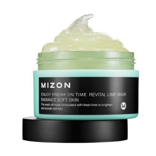 Mizon Revitalizačný maska s limetkou na povädnutú pleť (Enjoy Fresh-On Time Revital Lime Mask Radiance Soft Skin ) 100 ml