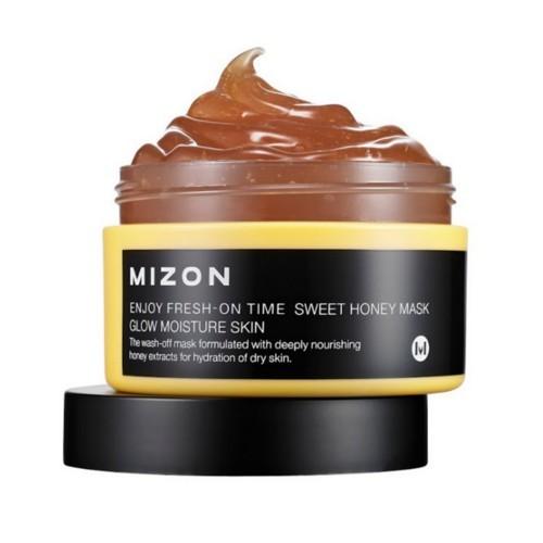 Mizon Rozjasňující a hydratační maska s medem pro suchou pleť (Enjoy Fresh-On Time Sweet Honey Mask Glow Moisture Skin) 100 ml