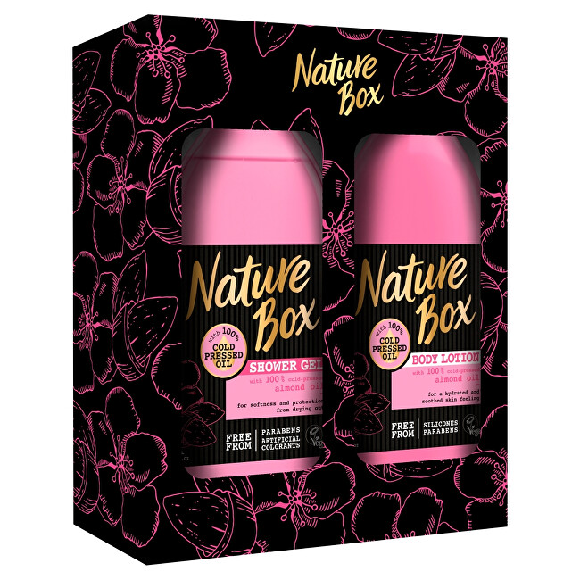 Nature Box Almond sprchový gel 385 ml + tělové mléko 385 ml dárková sada