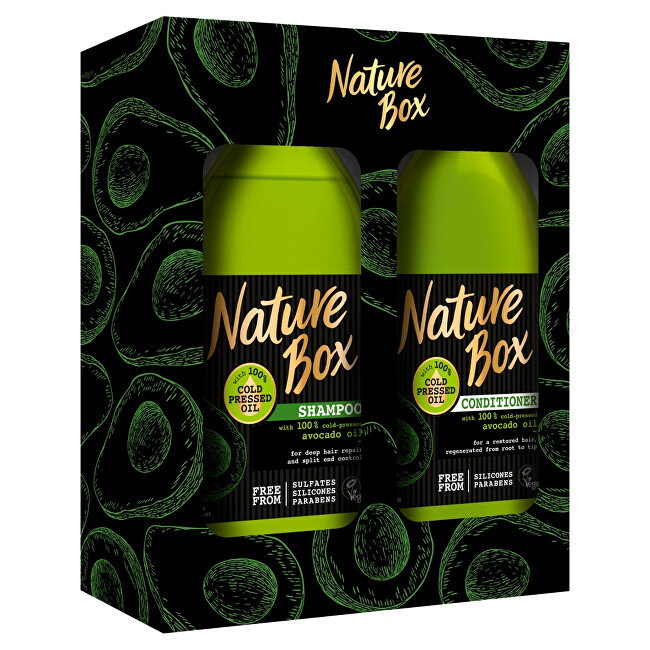 Nature Box Kosmetická sada vlasové péče Avocado