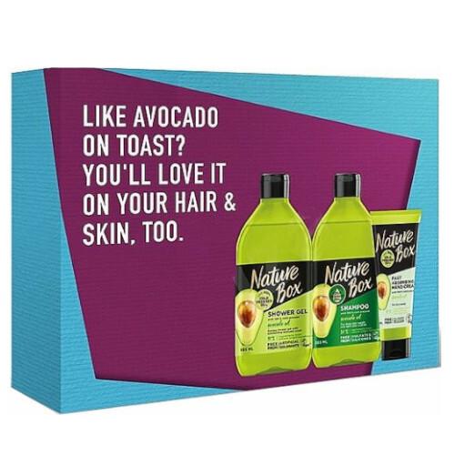 Nature Box Darčeková sada starostlivosť o vlasy a telo Avocado Oil