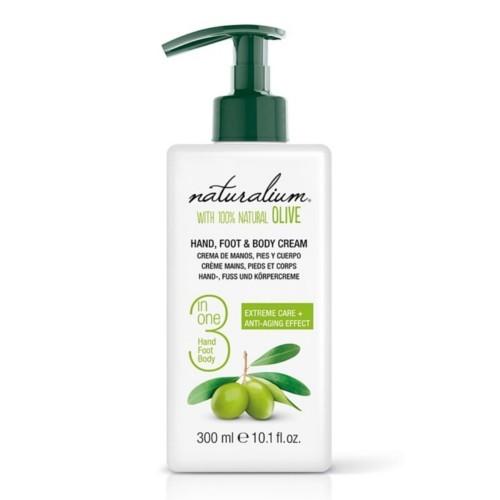 Naturalium Pečující krém na ruce, nohy a tělo s olivovým olejem (Hand, Foot & Body Cream) 300 ml