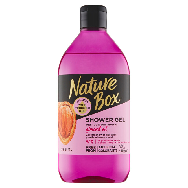 Nature Box sprchový gel Almond Oil 385 ml