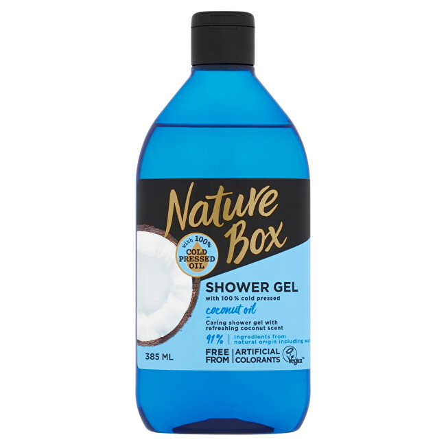 Nature Box Prírodné sprchový gél Coconut Oil (Shower Gel) 385 ml