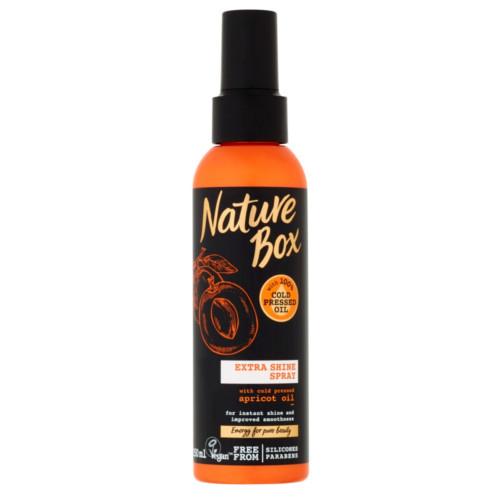 Nature Box sprej pro lesk vlasů Apricot Oil 150 ml