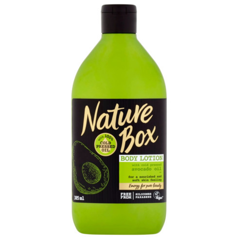 Nature Box tělové mléko Avocado Oil 385 ml