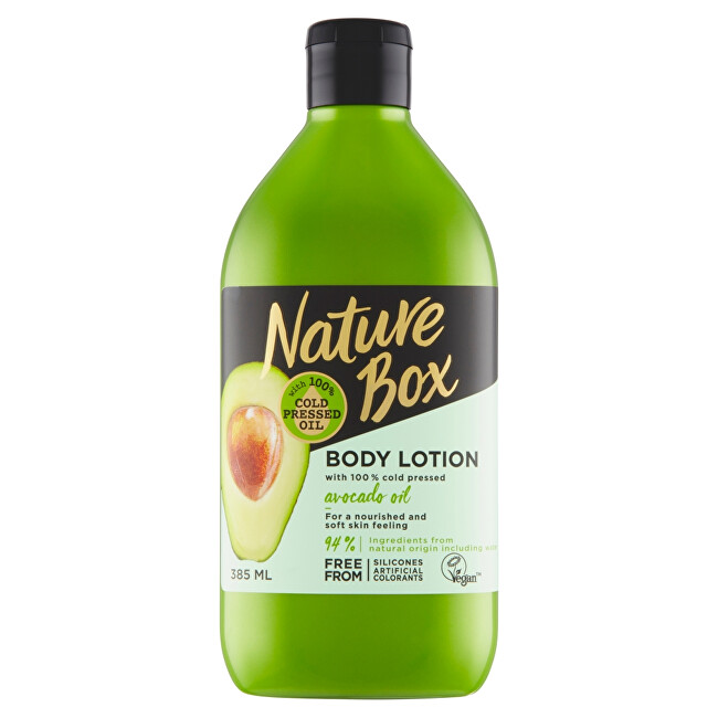 Nature Box Prírodné telové mlieko Avocado Oil ( Body Lotion) 385 ml