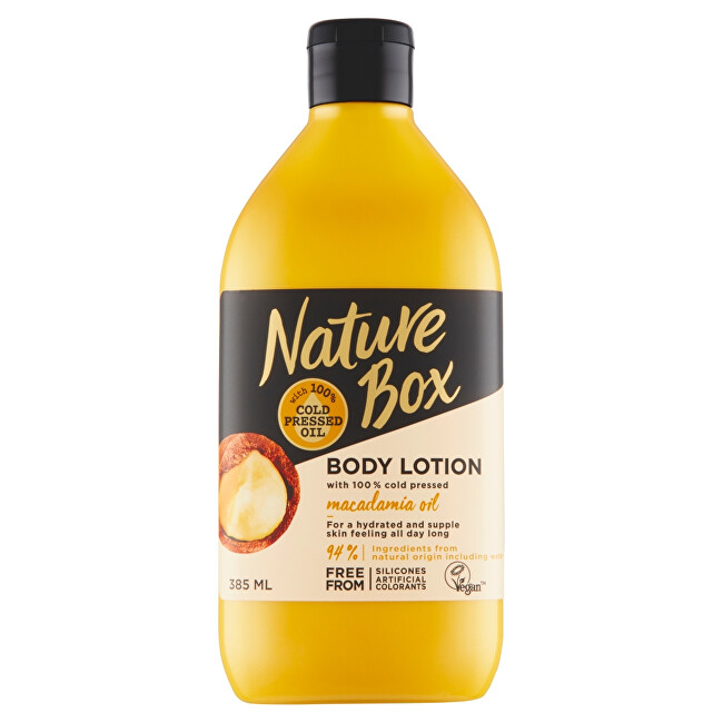 Nature Box tělové mléko Macadamia Oil 385 ml