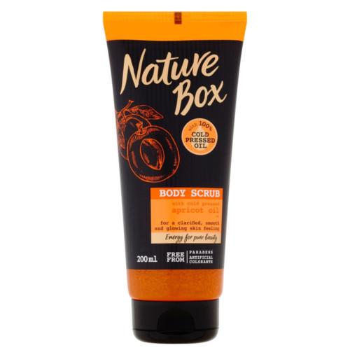 Nature Box tělový peeling Apricot Oil 200 ml