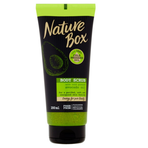Nature Box Prírodné telový peeling Avocado Oil ( Body Scrub) 200 ml