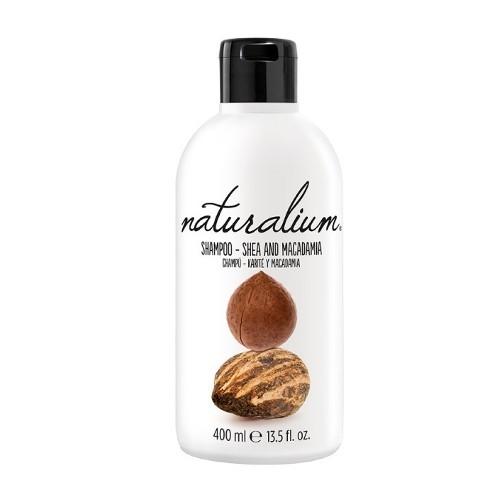 Naturalium Regenerační šampon pro suché a poškozené vlasy s bambuckým máslem a makadamiovým olejem (Shampoo Shea And Macadamia) 400 ml