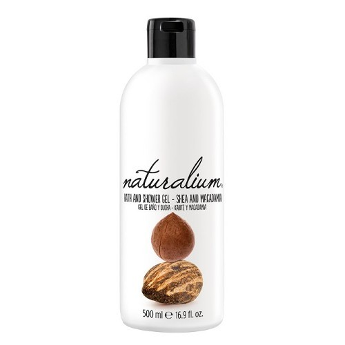 Naturalium Regenerační koupelový a sprchový gel s bambuckým máslem a makadamiovým olejem (Nuts Shea And Macadamia Bath And Shower Gel) 500 ml