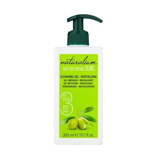 Naturalium Revitalizační čisticí gel na obličej a tělo (Revitalizing Cleansing Gel With 100% Natural Olive) 300 ml