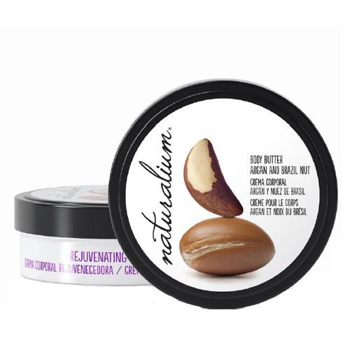Naturalium Tělové máslo s výtažkem z arganu a para ořechu (Rejuvetaning Body Butter Argan & Brazil Nut) 200 ml
