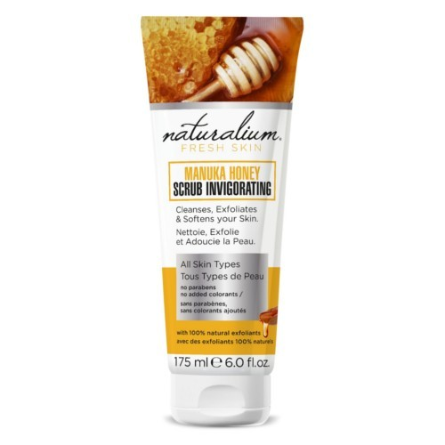 Naturalium Telový peeling Manukový med (Manuka Honey Scrub Invigo rating) 175 ml