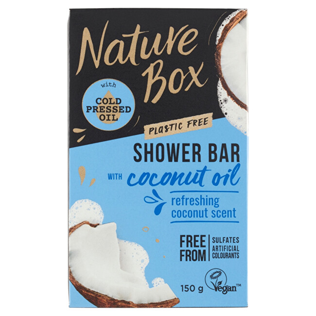 Nature Box Tuhé sprchové mydlo Coconut Oil (Shower Bar) 150 g