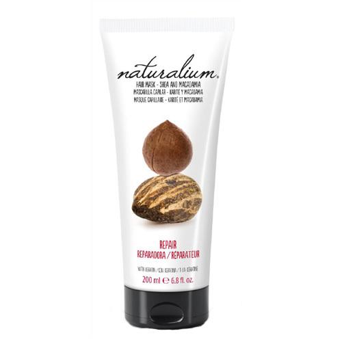 Naturalium Vlasová maska s výtažkem z karité a makadamiovým ořechem (Repair Hair Mask Shea & Macadamia) 200 ml