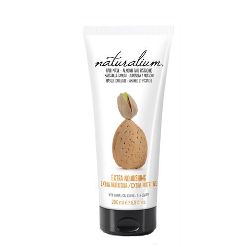 Naturalium Vlasová maska s výtažkem z mandlí a pistácií (Extra Nourishing Hair Mask Almond & Pistachio) 200 ml