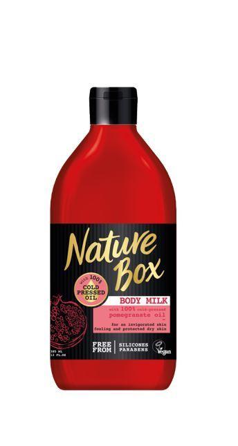 Nature Box Vyživující tělové mléko granátové jablko (Body Milk) 385 ml