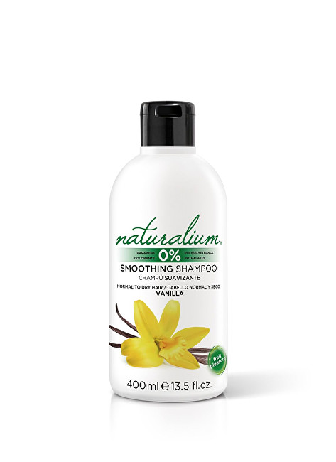 Naturalium Zvlhčující a vyhlazující šampon Vanilka (Smooting Shampoo) 400 ml
