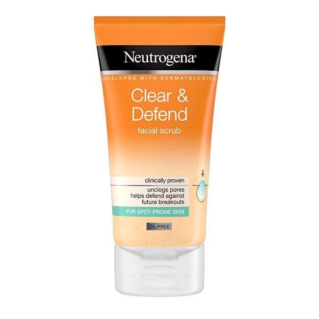 Neutrogena Vyhlazující peeling Clear & Defend (Facial Scrub) 150 ml